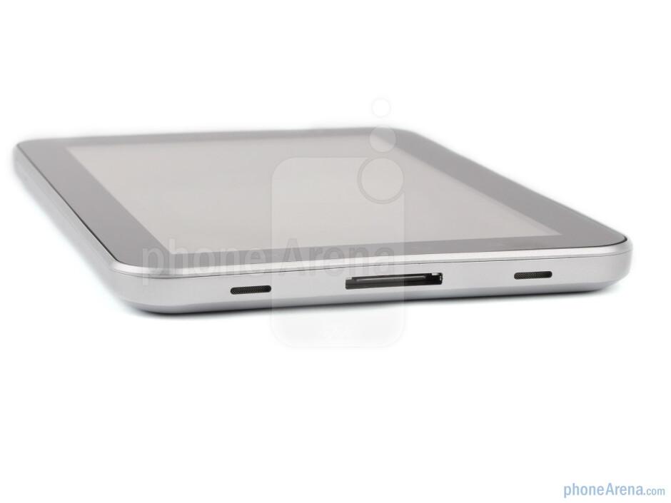 The sides of Samsung Galaxy Tab - Samsung Galaxy Tab Preview