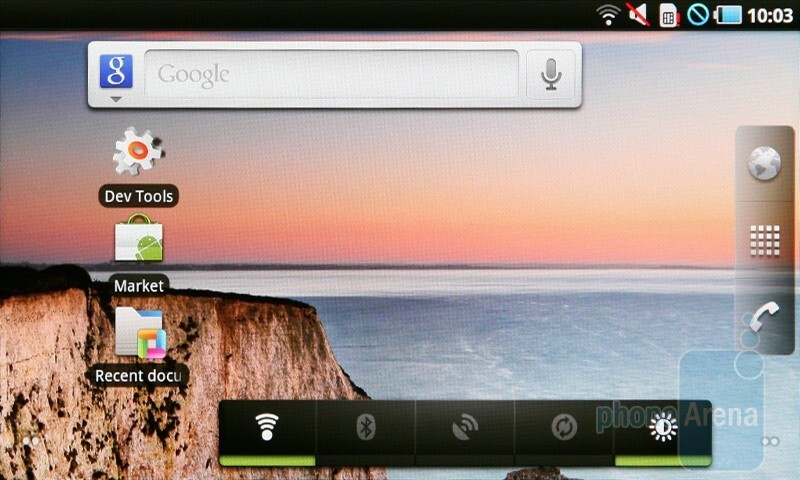 The Samsung Galaxy Tab presents you with stock Android 2.2 - Samsung Galaxy Tab Preview