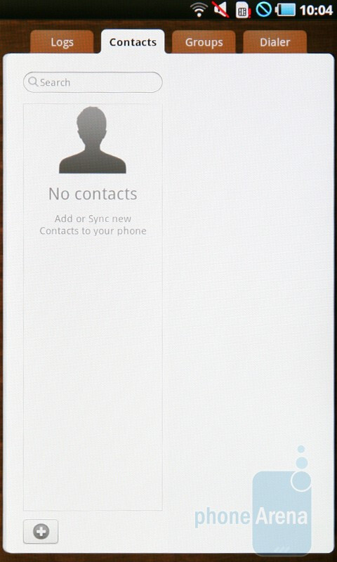 Contacts - Samsung Galaxy Tab Preview