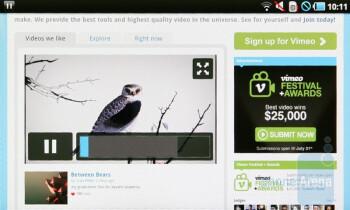 Vimeo - Samsung Galaxy Tab Preview