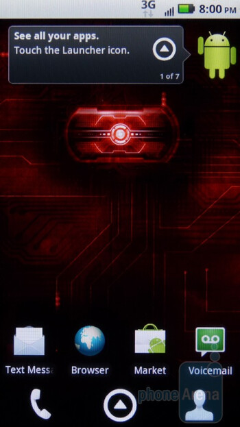 The interface of the Motorola DROID 2 - Motorola DROID 2 vs RIM BlackBerry Torch 9800