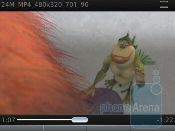 BlackBerry Torch - Video playback - Motorola DROID 2 vs RIM BlackBerry Torch 9800