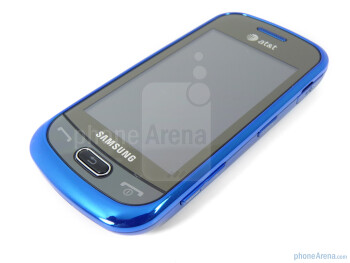 """The 3"""" TFT touchscreen display - Corners are rounded on the Samsung Eternity II - Samsung Eternity II Review"""