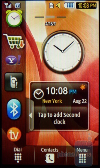 The Samsung Eternity II offers three homescreens - Samsung Eternity II Review