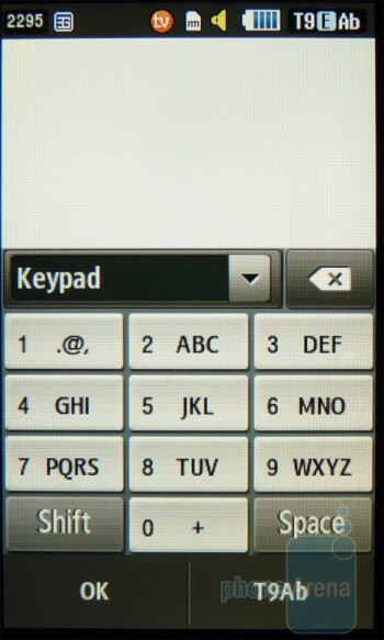Messaging with the on-screen keyboards of the Samsung Eternity II - Samsung Eternity II Review