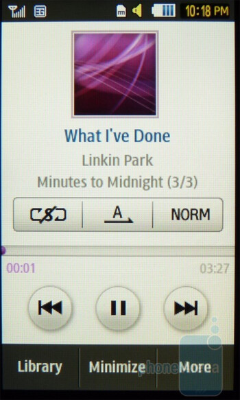Music player - Samsung Eternity II Review