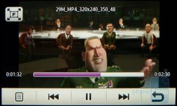 Watching videos - Samsung Eternity II Review