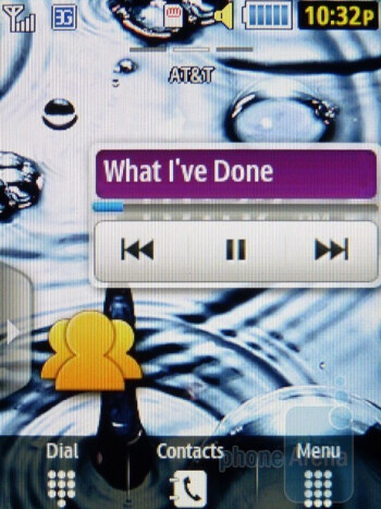 Music player - Samsung Flight II Review