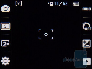Camera interface - Samsung Flight II Review