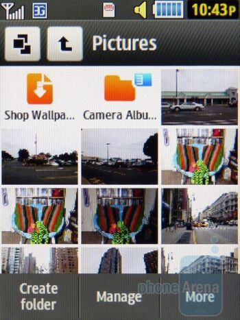 Gallery - Camera interface - Samsung Flight II Review