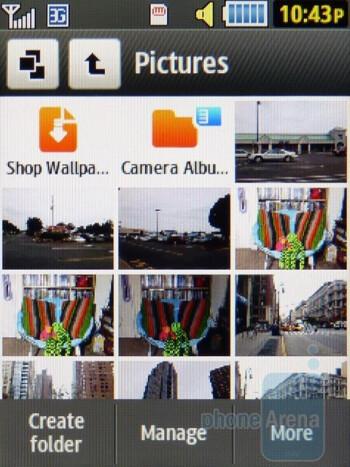 Gallery - Camera interface - Samsung Flight II Review
