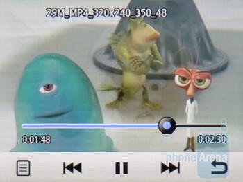 Video playback - Samsung Flight II Review