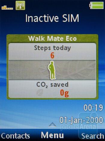 Walk Mate Eco - The interface of the Sony Ericsson Hazel - Sony Ericsson Hazel Review