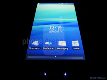 """The Sony Ericsson Xperia X10a has a 4"""" TFT display - Sony Ericsson Xperia X10a Review"""