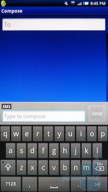 On-screen keyboard of the Sony Ericsson Xperia X10a - Sony Ericsson Xperia X10a Review
