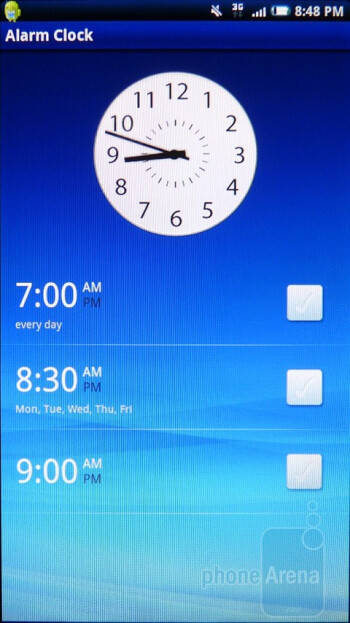 Alarms - Sony Ericsson Xperia X10a Review