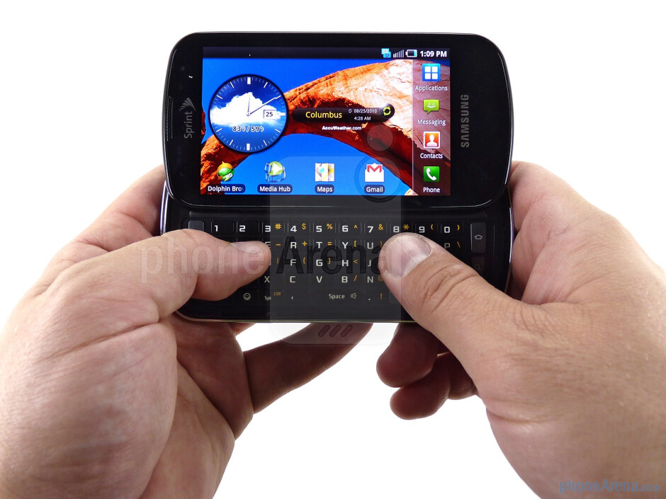 Samsung Epic 4G has one of the better keyboards on the market - Samsung Epic 4G Review