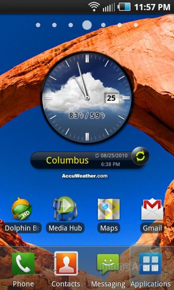 The Samsung Epic 4G runs Android 2.1 - Samsung Epic 4G Review