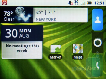 The Home screens of Motorola CHARM - Motorola CHARM Review