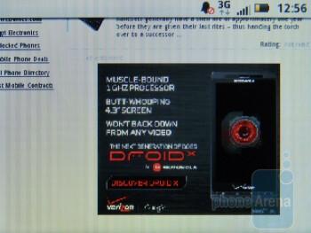 The browser of Motorola CHARM - Motorola CHARM Review