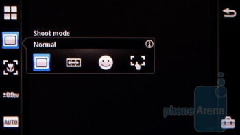 The camera interface - Sony Ericsson Vivaz for AT&T Review