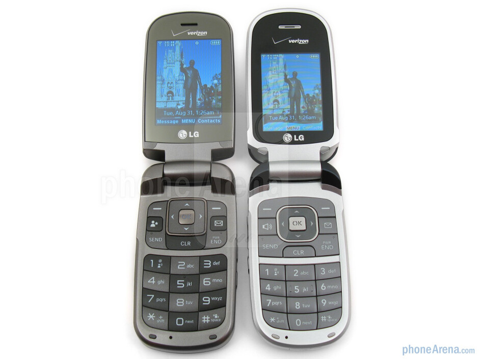 LG Clout (left and bellow) next to LG VX8360 (right and above) - LG Clout Review
