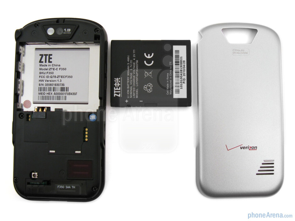 The sides of the Verizon Wireless Salute - Verizon Wireless Salute Review