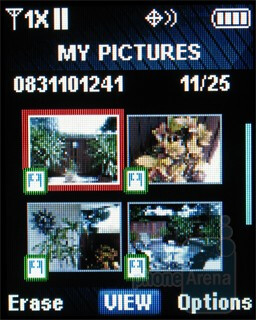 Gallery - Camera interface - Samsung Gusto Review