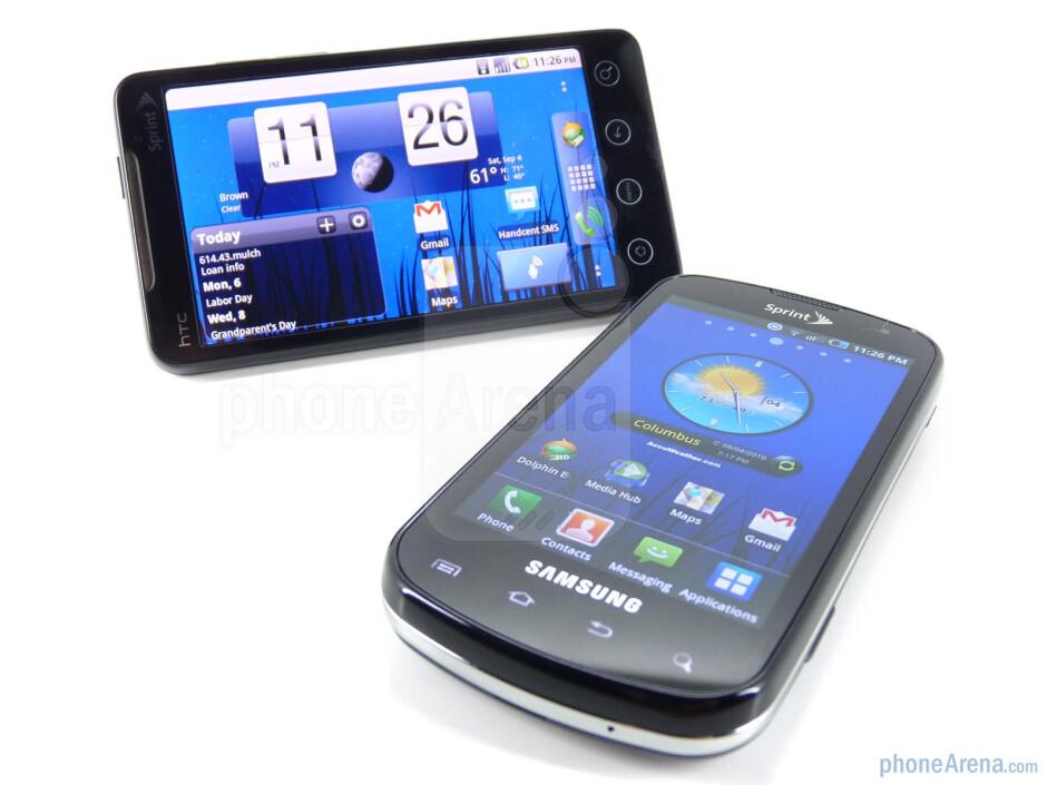 Samsung Epic 4G next to HTC EVO 4G - Samsung Epic 4G vs HTC EVO 4G