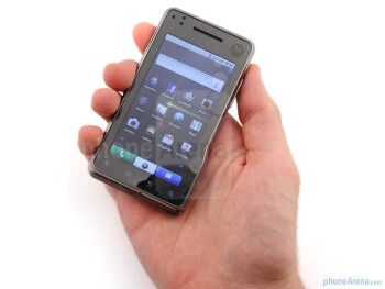 Motorola MILESTONE XT720 feels chunky for a touch screen handset of this size - Motorola MILESTONE XT720 Review