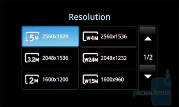 Camera interface of the Samsung Fascinate - Samsung Continuum vs Samsung Fascinate