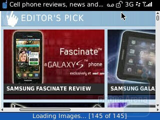 The browser of RIM BlackBerry Curve 3G - RIM BlackBerry Curve 3G for T-Mobile Review