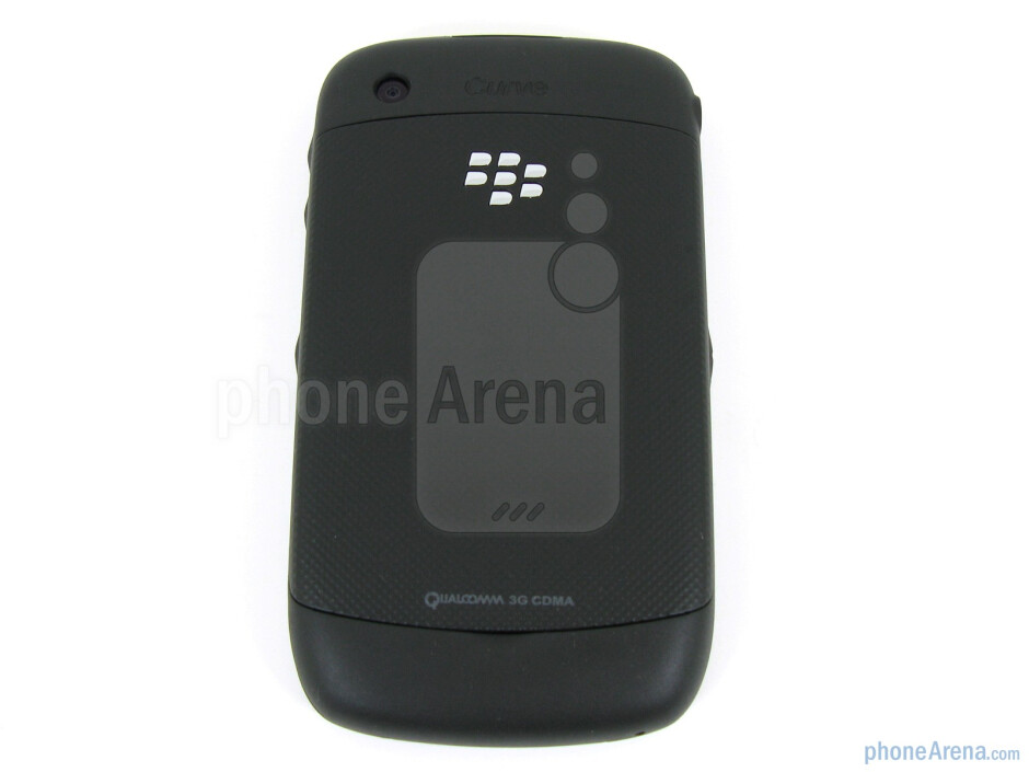 Removing the back covergives you access to the microSD card slot and battery - RIM BlackBerry Curve 3G for Verizon Wireless Review