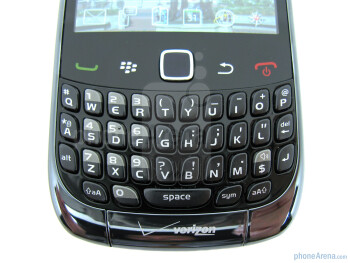 The QWERTY keyboard of the RIM BlackBerry Curve 3G 9330 - Removing the back covergives you access to the microSD card slot and battery - RIM BlackBerry Curve 3G for Verizon Wireless Review