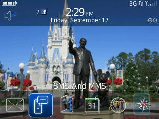 Home screen of the RIM BlackBerry Curve 3G 9330 - RIM BlackBerry Curve 3G for Verizon Wireless Review