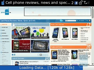 Surfing the web with the RIM BlackBerry Curve 3G 9330 - RIM BlackBerry Curve 3G for Verizon Wireless Review