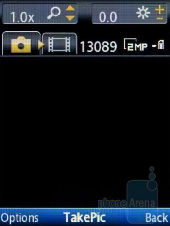 Camera interface - Sony Ericsson Spiro Review