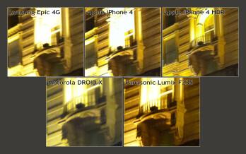 100% Crop - Samsung Epic 4G vs Apple iPhone 4 vs Motorola DROID X - the camera comparison