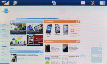 Browser in landscape view - LG Encore Review