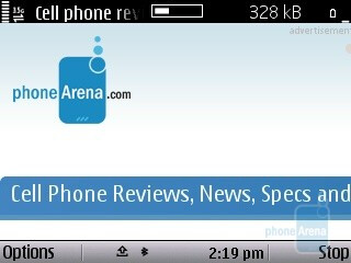 Symbian browser - Nokia E5 Review