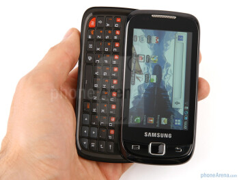The Samsung i5510 is made of durable, glossy black plastic - Samsung I5510 Review