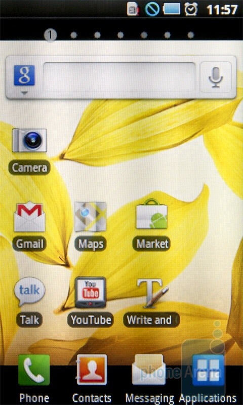 The interface of the Samsung i5510 - Samsung I5510 Review