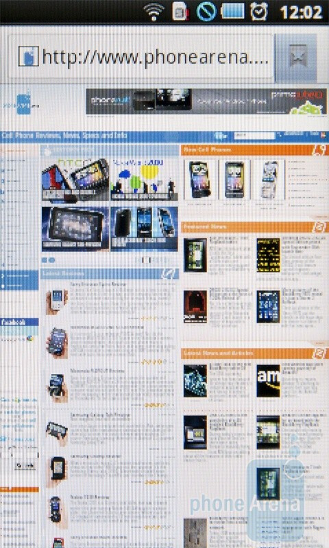 Internet browsing - Samsung I5510 Review