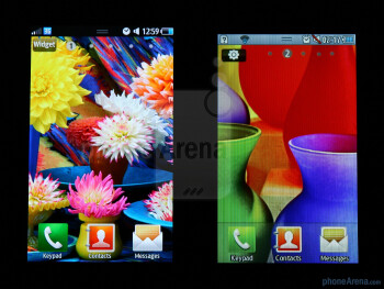 Comparing the look of the interface betweenSamsung Wave (left) and Wave 723 (right) - Samsung Wave 723 Review