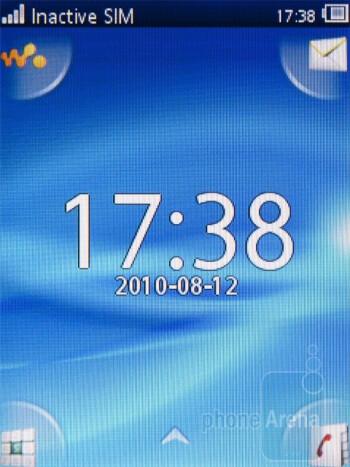 The homescreen of the Sony Ericsson Yendo - Sony Ericsson Yendo Preview