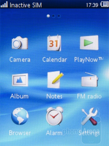 The main menu, calendar and text input - Sony Ericsson Yendo Preview