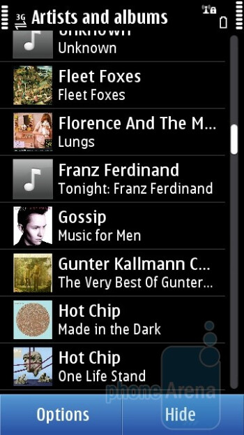 The music player of Nokia N8 - Nokia N8 Review