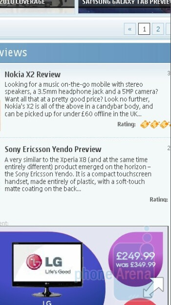 Symbian^3 browser - Nokia N8 Review