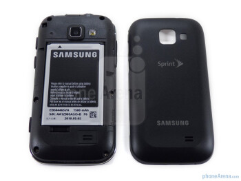 The rear of the phone features the 3.2 megapixel camera with flash and the single speaker - Samsung Transform Review