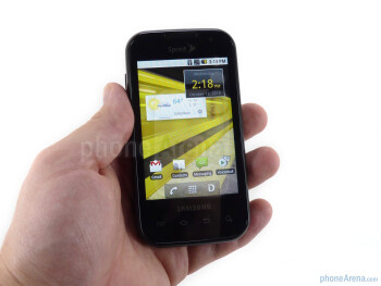 The Samsung Transform uses very simple black and grey design with a display-dominated front - Samsung Transform Review